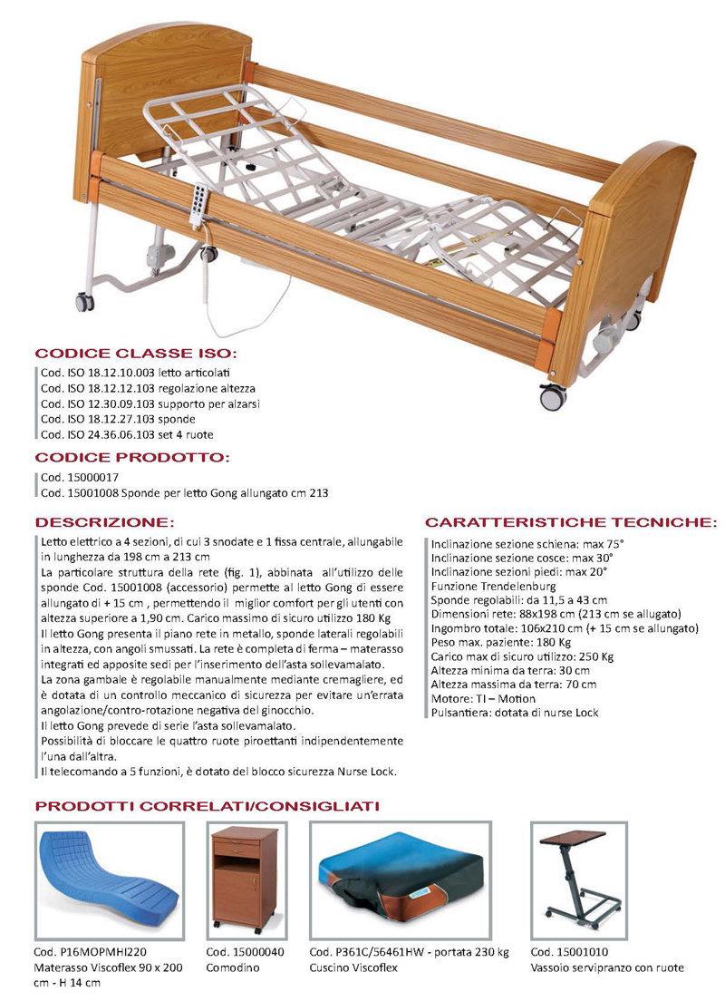 letto allungabile elettrico gong