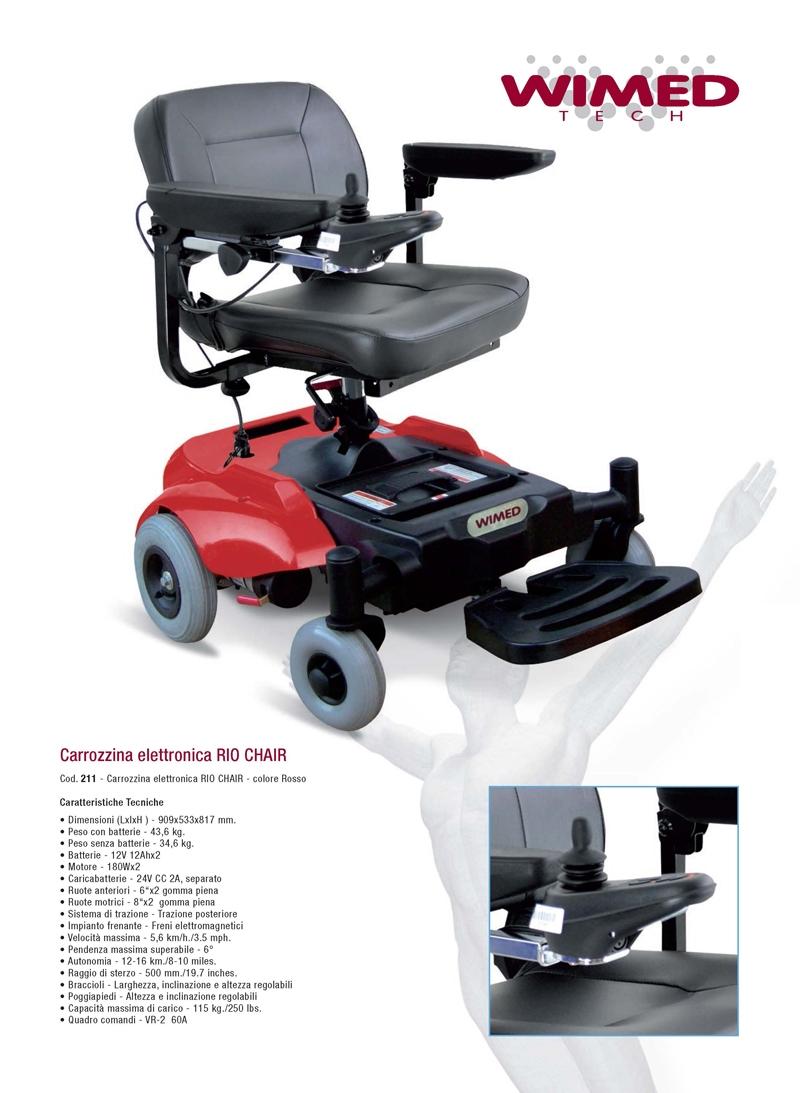 carrozzina elettronica per disabili Rio Chair
